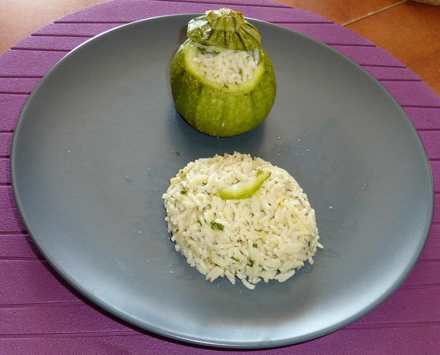 Courgettes rondes farcies au riz et la liv che amap - Comment cuisiner les courgettes rondes ...